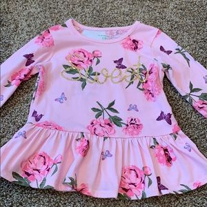 "Garanimals Pink Floral ""Sweet"" Top Size 4T"